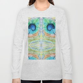 Peacok Feather Abstract Long Sleeve T-shirt