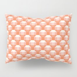 3D Optical Illusion: Orange Rhombicuboctahedron Pillow Sham