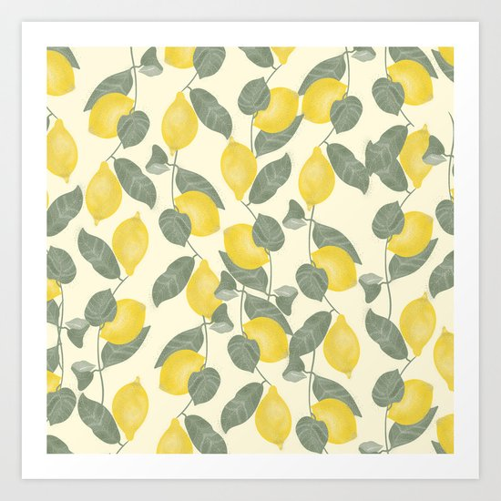 Citrus Pattern Art Print