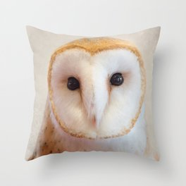 Barn Owl Portrait Throw Pillow