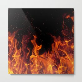 Cinematic - Flame Art Metal Print