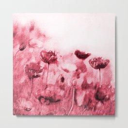 Crimson Poppies Metal Print