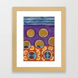 About the Second Reality inside the Bubbles Framed Art Print