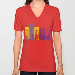 San Diego skyline pop Unisex V-Neck