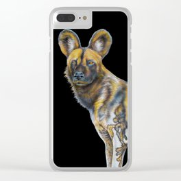 African Wild Dog Clear iPhone Case