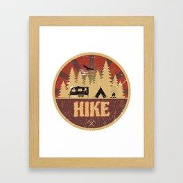 Hike Propaganda   Hiking Nature Outdoor Camping Framed Art Print