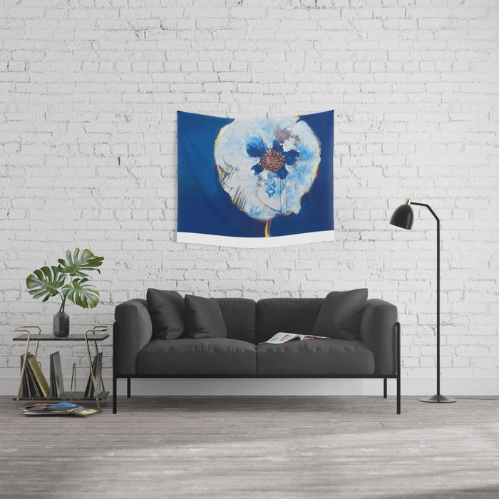 Life in Blue  Wall Tapestry
