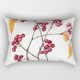 Red Chokeberry (Aronia arbutifolia) (1920) by Mary Vaux Walcott Rectangular Pillow