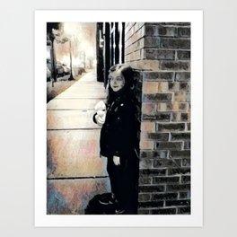 "Enchanting girl among the bricks by Denise ""Mimi"" Gabriel Art Print"