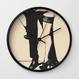 Master will protect you. Sexy submission artwork, BDSM submissive girl, erotic lingerie, kinky games Wall Clock