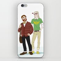 legolas iPhone & iPod Skins featuring Hipster Legolas and Gimli by Nautilus Gifticus