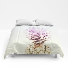 PASTEL PINEAPPLE no2 Comforters