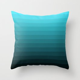 Depth Gradient Throw Pillow