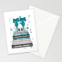 Books, Teal, Shoes, Fashion books, Fashion illustration, Fashion, Amanda Greenwood, watercolor, wall Stationery Cards