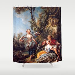 Lovers in a Park - Francois Boucher Shower Curtain