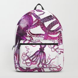 pink Octopus unique underwater creature Backpack