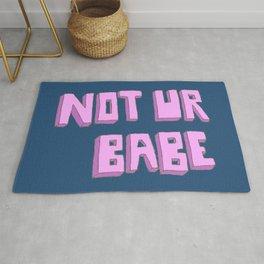Not ur babe (blue version) Rug