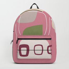 Pink Mid Century Modern Backpack