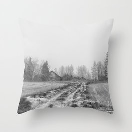 Winter's Past Throw Pillow