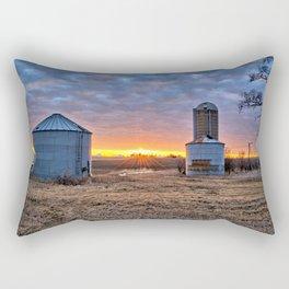 Grain Bin Sunset Rectangular Pillow