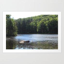 Along the Reservoir Art Print