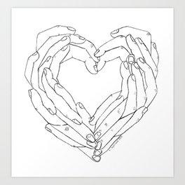 Finger Heart Art Print