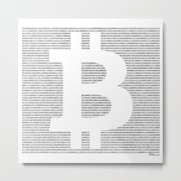 Binary Bitcoin Metal Print