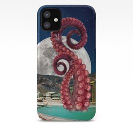 Octopus in the pool iPhone Case