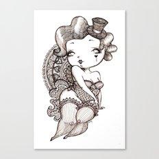 Chubby Burlesque Canvas Print