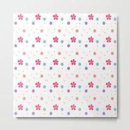 Flowers in white Metal Print