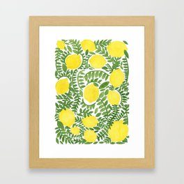 The Fresh Lemon Framed Art Print