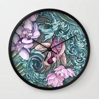 splash Wall Clocks featuring Splash by Vikki Salmela