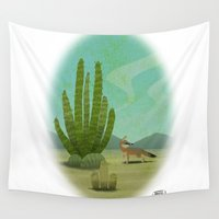 mexican Wall Tapestries featuring Mexican fox by David Pavon