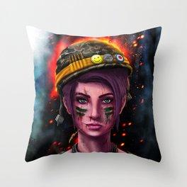 Battle Cry Throw Pillow