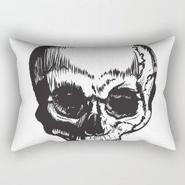 Pen Stroke Skull Rectangular Pillow