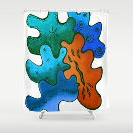 Relaxing Ornamental Spirits. Meditative iFi Art. Stress and Pain Free with MYT3H. Green. Wood. Wind. Shower Curtain