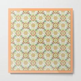Brocade Mandala Metal Print