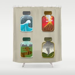 Disaster In A Jar Shower Curtain