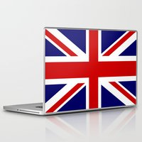 british flag Laptop & iPad Skins featuring British Union Flag by PICSL8