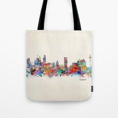 liverpool city skyline Tote Bag
