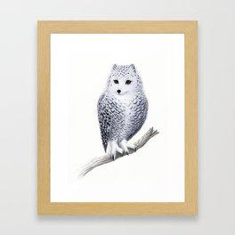 Snowy Fowl Framed Art Print