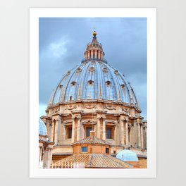 The dome of St. Peter's Basilica, Vatican, Rome, Italy. Art Print