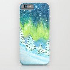 Winter Aurora Landscape Slim Case iPhone 6s