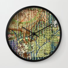 Driving Out Miss Martineau Wall Clock