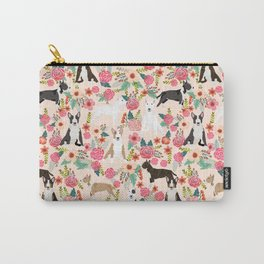 Bull Terrier dog breed pattern florals dog lover gifts pet friendly designs Carry-All Pouch