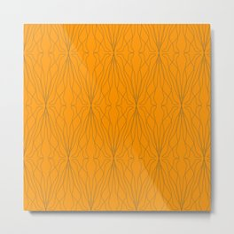 shape orange pattern Metal Print