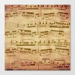 Vintage Sheet Music Canvas Print