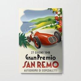 San Remo Automobile Race Metal Print