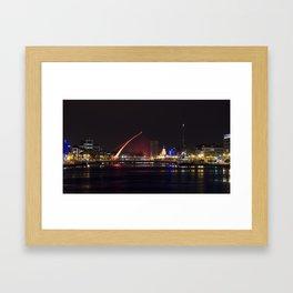 Reflections III - Samuel Beckett Bridge Framed Art Print