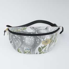 fawn between flowers Fanny Pack